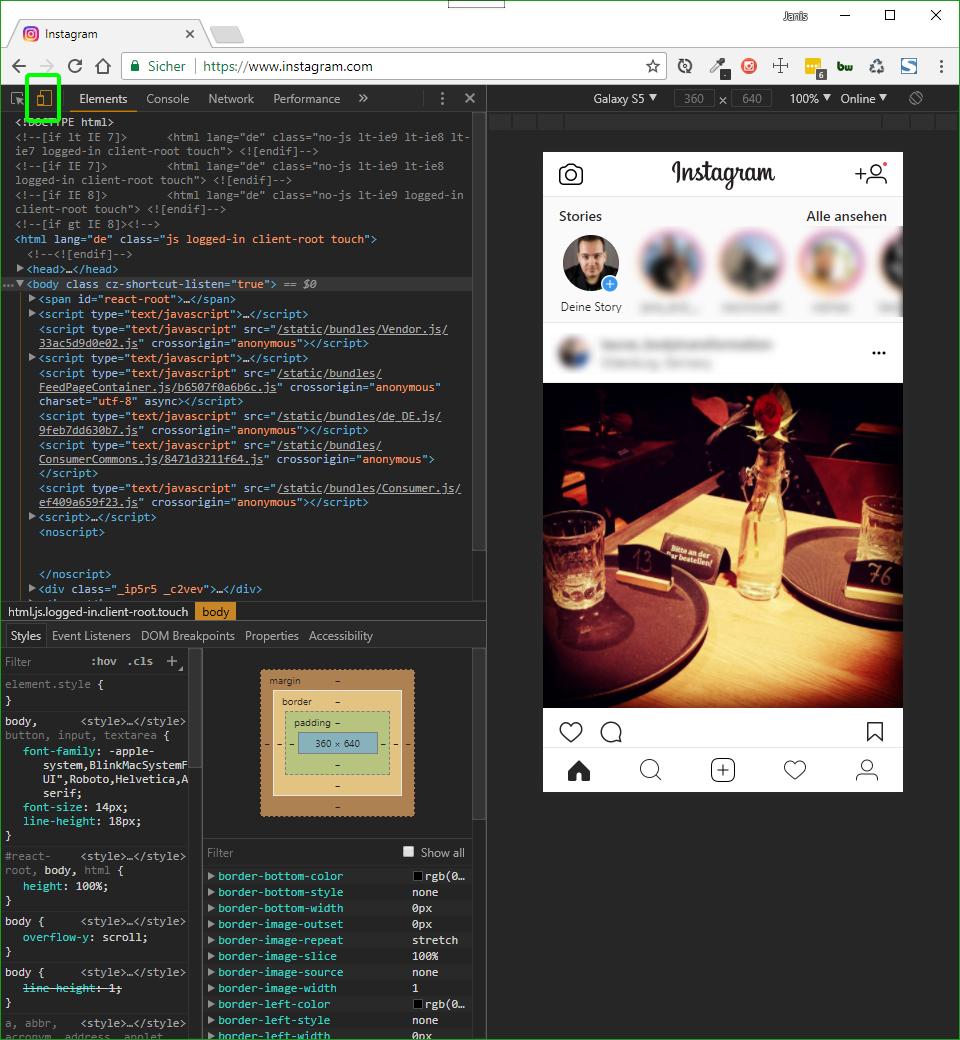 Bilder vom PC/MAC aus direkt auf Instagram