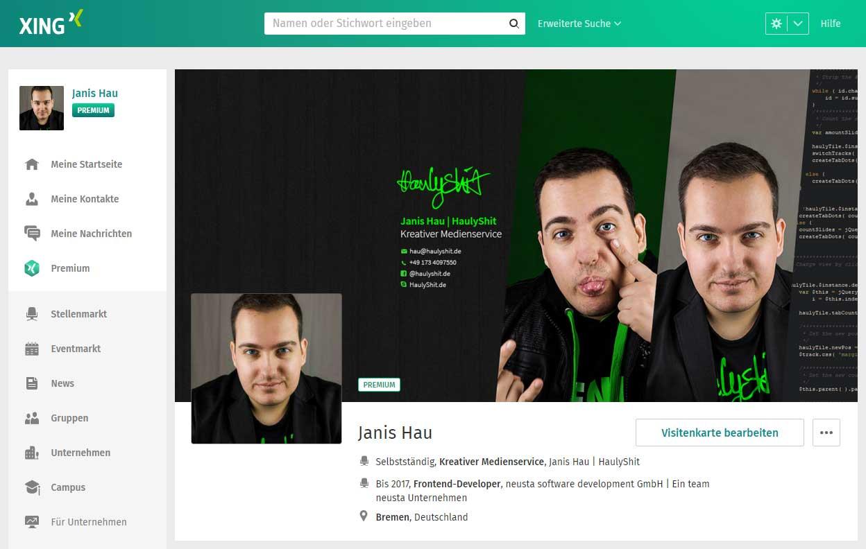 Janis Hau Haulyshit Designer Und Web Entwickler Aus Bremen